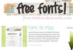 AMANDA fonts for peas