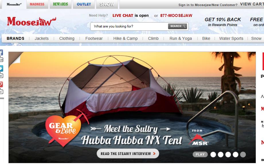 moosejaw tent promo 3 moosejaw tent promo 2 ... & Moosejaw u2013 On the Same Paige