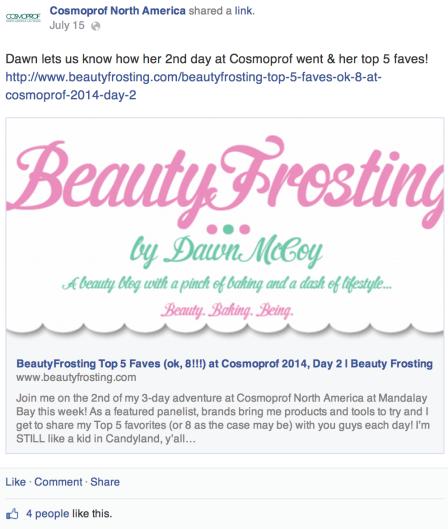 Cosmoprof Facebook page